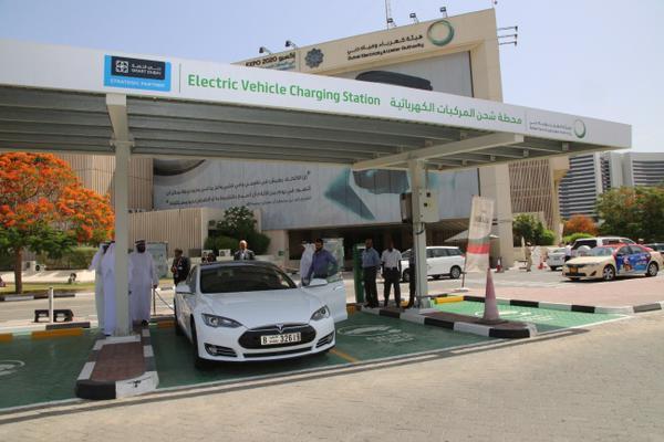 Charging power station in Dubai