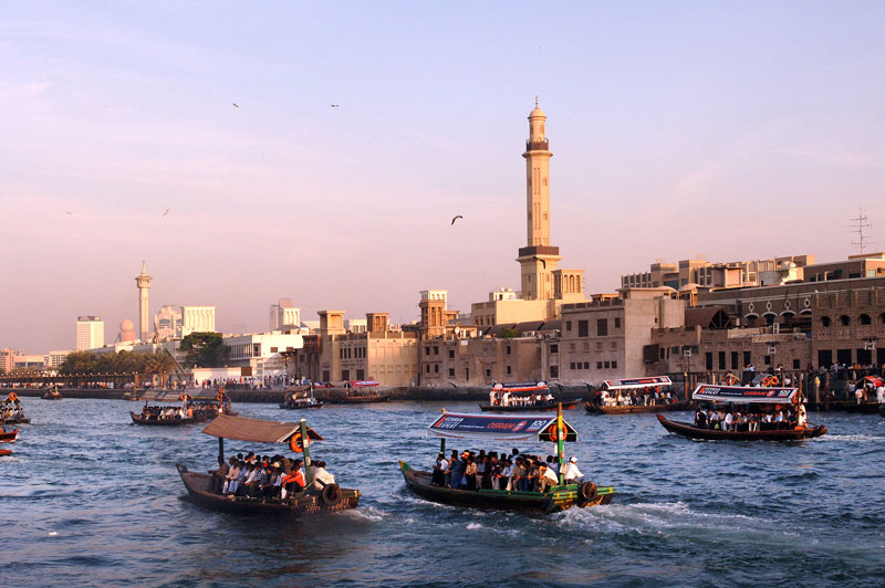 Traditional abra in the Dubai Creek