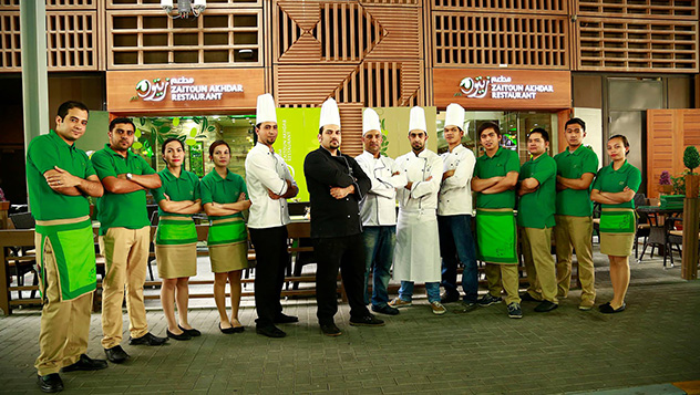 Zaitoun Akhdar Restaurant In Abu Dhabi