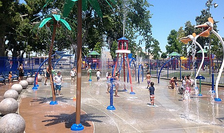 Splash Pad at The Beach